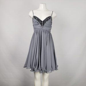 French Connection Grey Party Dress Size 10